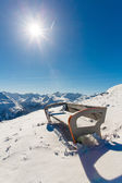 Bench in ski resort Bad Gastein, Austria, Land Salzburg — Stockfoto