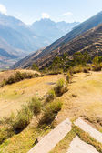 Inca ruins of Sacred Valley in Andes — Stock Photo