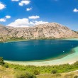 Freshwater lake in village Kavros in Crete  island, Greece. Magical turquoise waters, lagoons. Travel Background — Stock Photo #46418931