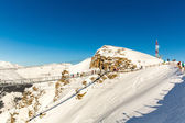 Cableway and chairlift in ski resort Bad Gastein in mountains, Austria. Austrian alps - nature and sport background — Stock Photo