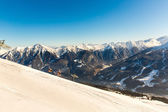 Ski resort Bad Gastein in winter snowy mountains, Austria, Land Salzburg,  Austrian alps - nature and sport background — Zdjęcie stockowe