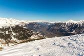 Ski resort Bad Gastein in winter snowy mountains, Austria, Land Salzburg,  Austrian alps - nature and sport background — Stock Photo