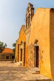 Church in small cretan village Kavros in Crete  island, Greece. Travel Background — Stock Photo