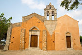 Church in small cretan village Kavros in Crete  island, Greece. Travel Background — Stock Photo