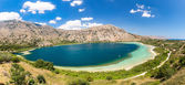 Freshwater lake in village Kavros in Crete  island, Greece. Magical turquoise waters, lagoons. Travel Background — Stock Photo