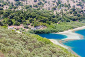 Freshwater lake in village Kavros in Crete island, Greece — Stock Photo