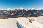 Ski resort Bad Gastein in winter snowy mountains, Austria, Land Salzburg,  Austrian alps - nature and sport background — Stock Photo