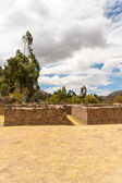 Raqchi, Inca archaeological site in Cusco, Peru  Ruin of Temple of Wiracocha  at Chacha,South America — Stock Photo