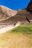 Ollantaytambo, Peru, Inca ruins  and archaeological site in Urubamba, South America. — Stock Photo