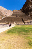 Ollantaytambo, Peru, Inca ruins and archaeological site in Urubamba, South America — Stock Photo