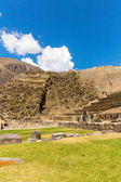 Inca ruins and archaeological site in Urubamba — Stock Photo