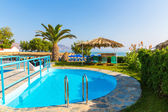 Swimming pool n Crete island — Stock Photo