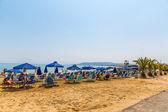 Beach in village Kavros in Crete  island, Greece. — Stock Photo