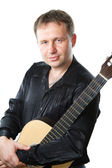 Chitarrista e chitarra — Foto Stock
