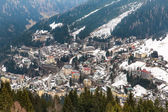 Ski resort town — Stock Photo