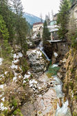 Waterfall in Ski resort — Stock fotografie