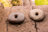 Ancient Aztec and Maya  stone  sculptures. — Stock Photo
