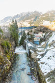Waterfall in Ski resort, Bad Gastein, Austria — Stock Photo