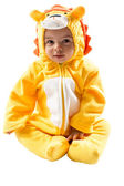 Boy in lion suit — Stock Photo
