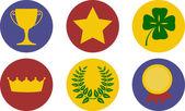 Zestaw ikon o tematyce zwycięstwo — Wektor stockowy
