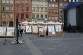 Poland Warsaw - street art — Stock Photo