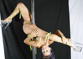Pole Acrobat — Stock Photo