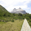 Stock Photo: W Trek on Torres Del Paine Park