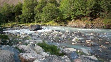 Raging rivers of patagonia — Stock Video