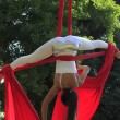 Acrobat in a park — Stock Photo