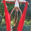 Stock Photo: Acrobat in park