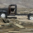 Stock Photo: Derelict automobile in Bodie California