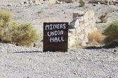 Ghost town, Rhyolite, Death Valley California — Stock Photo