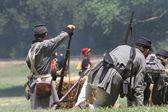 Wojna domowa w rekonstrukcji — Zdjęcie stockowe