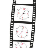 Hours on a film shot.Vector illustration — Stock Vector