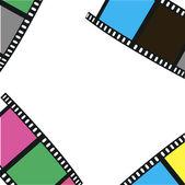 La composition du film. illustration vectorielle — Vecteur