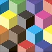 Astratto di cubi colorati — Vettoriale Stock