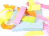 Composição do escritório. notas auto-adesivas — Foto Stock