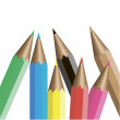 Vector de stock : Colored pencils . Vector illustration