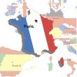 Volumetric map of France.Vector illustration — Stock Vector