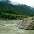 Mountainous river. Sequence of shoots. — Stock Video #12429805