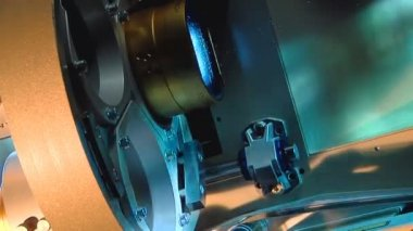 Close-up of 35mm act bobbin (pan - artificial) — Stock Video