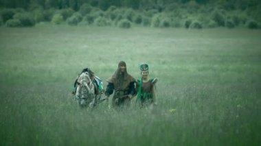 Long shot of Asiatic barbarian Altai (static - day) — Stock Video