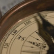 Stock Video: Close-up of Compass Marine old Map