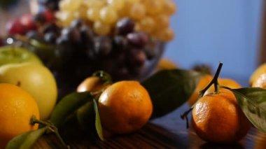 Fresh fruits — Stock Video