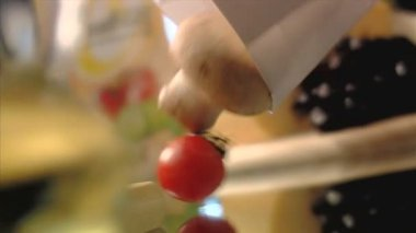 Close-up of vegetables — Stock Video