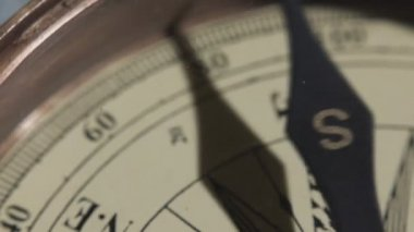 Close-up of Compass Marine old Map — Stock Video