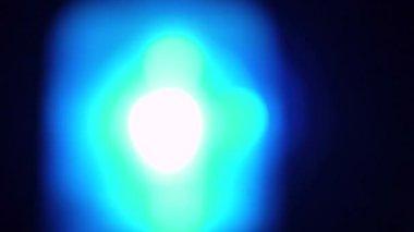 Blå blinkande nödljus — Stockvideo