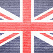 British flag on fabric texture — Stock Photo #19245857