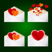 Envelopes to Valentine's day. — Photo