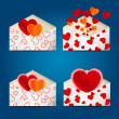 Set of envelopes to Valentine's day. eps10 — Stock Vector